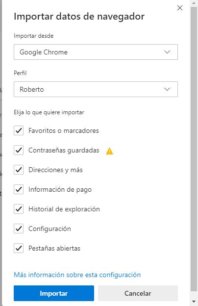 Configurar Microsoft Edge Chromium