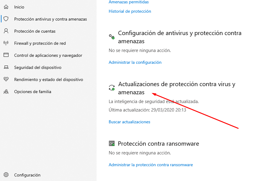 solucion error windows defender windows 10