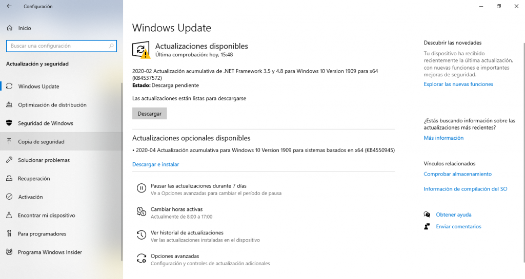 Ventana-windows-update