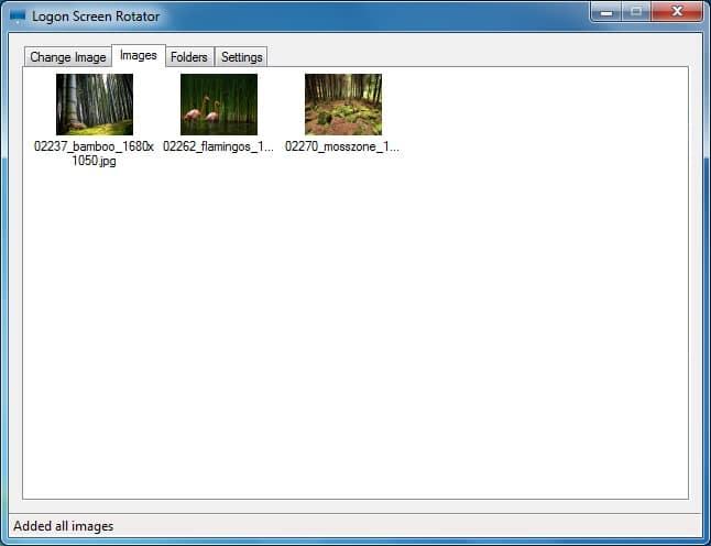 Imagen del cambiador de fondo de la pantalla de bloqueo de Windows 7