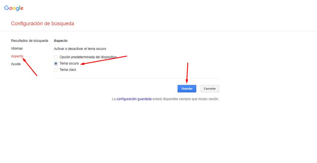 Guía paso a paso sobre cómo habilitar el modo oscuro para la búsqueda de Google en la computadora