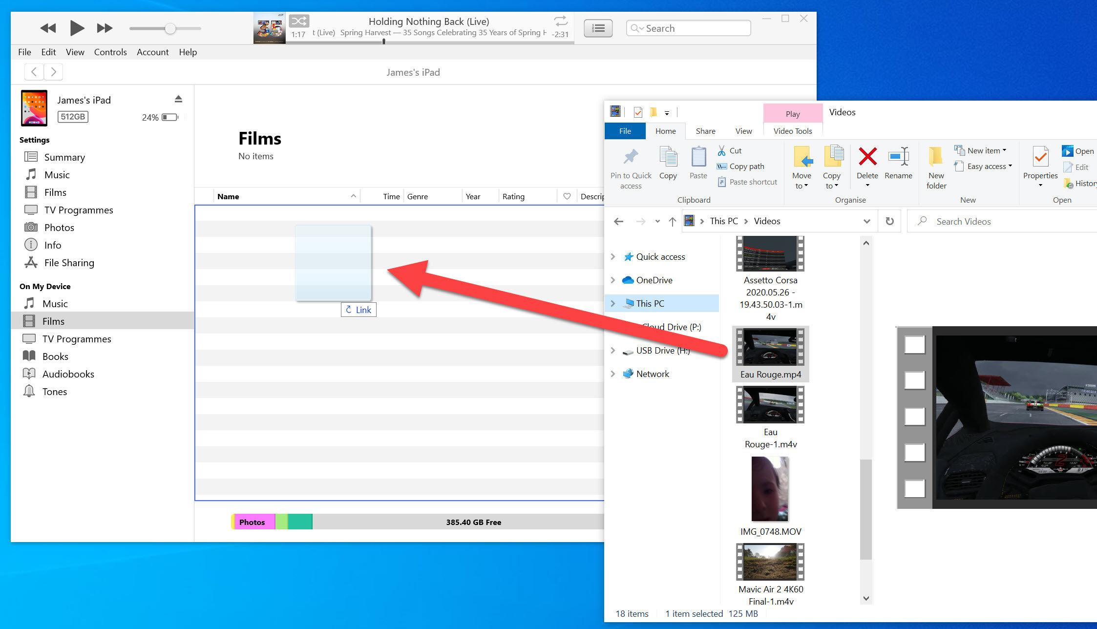Cómo transferir videos a ipad